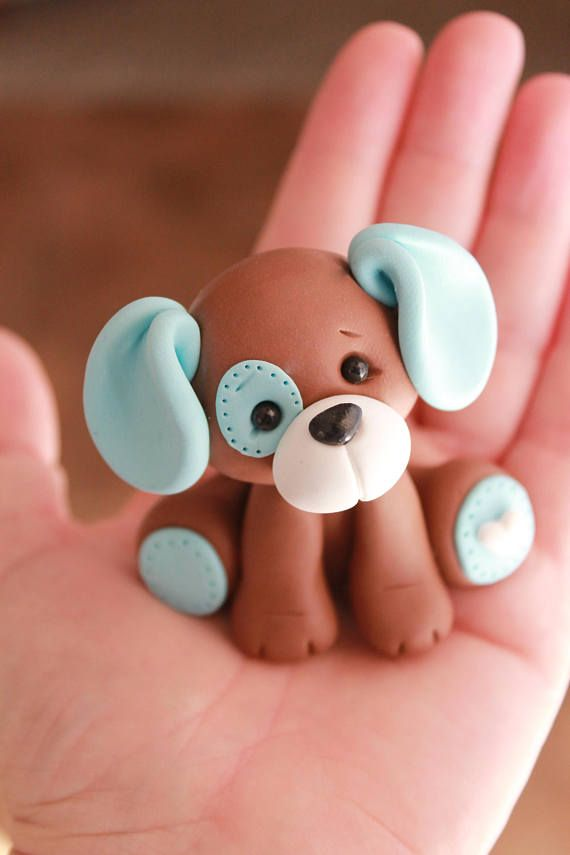Puppy Cake Topper - Baby Shower Cake Topper - Birthday Cake Topper - Dog Cake Topper