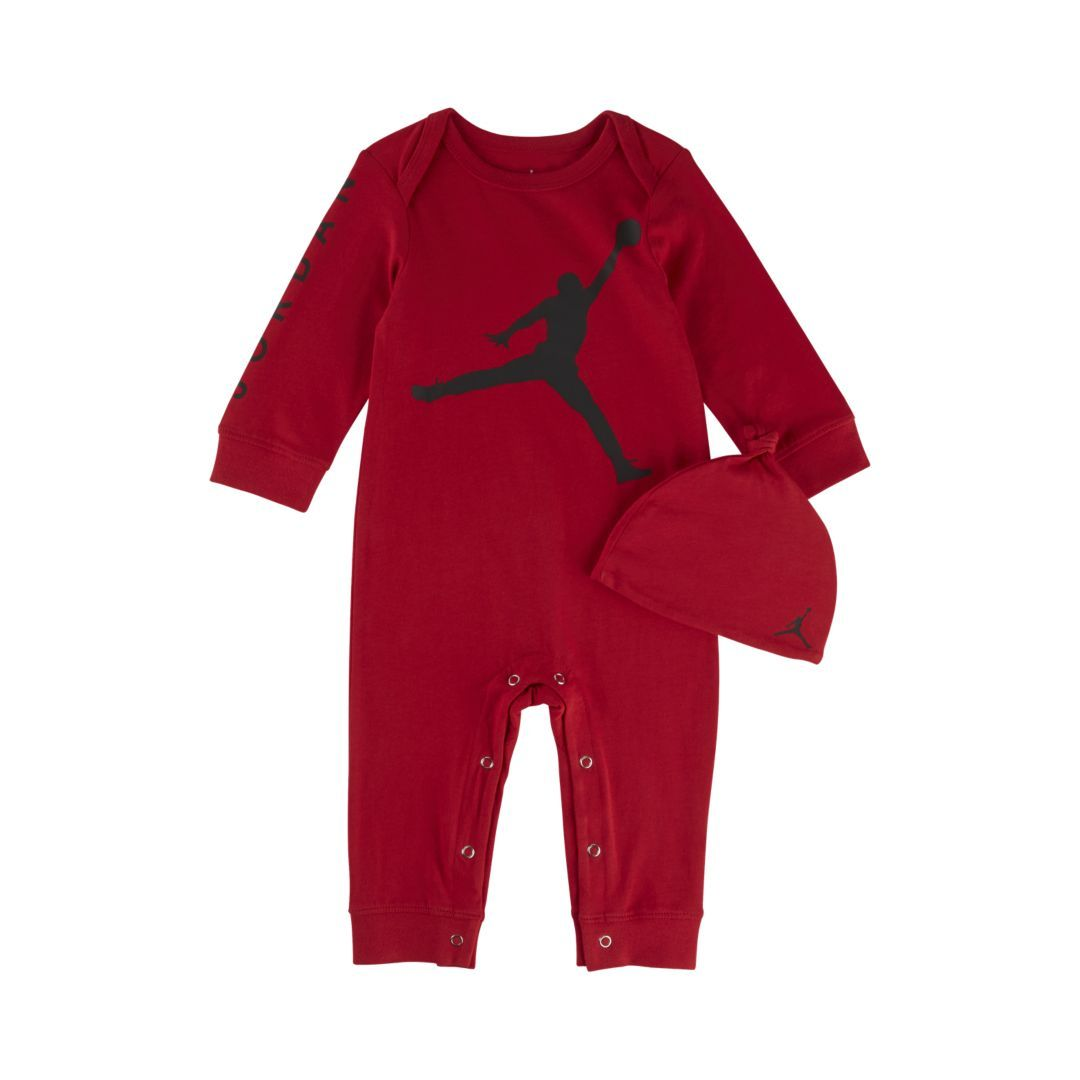 632a04a8e6452a Jordan Infant Coverall Size 12M (Gym Red)