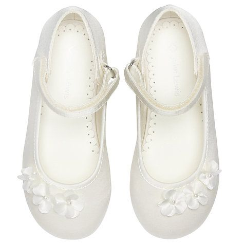Buy John Lewis Luna Daisy Shoes, Ivory Online at johnlewis.com