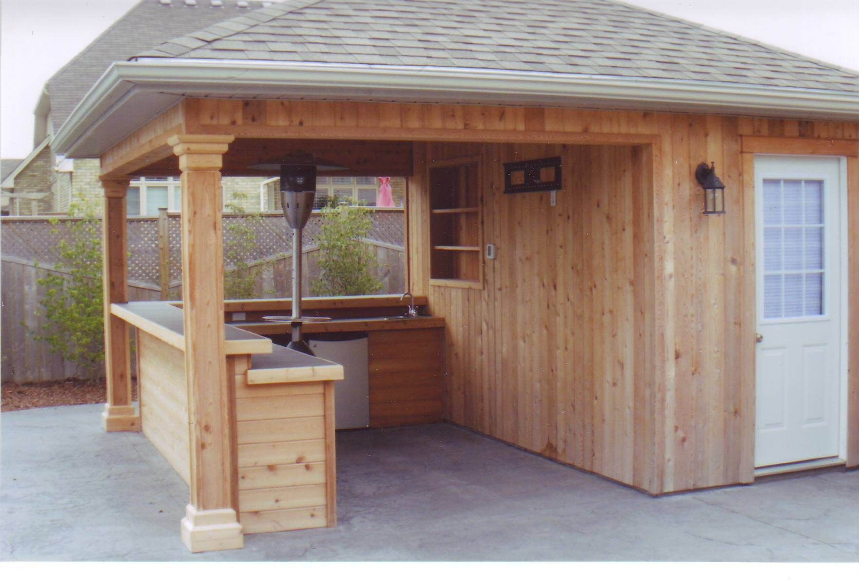 Shedmaster bar home stuff pinterest bar backyard for Garden pool sheds