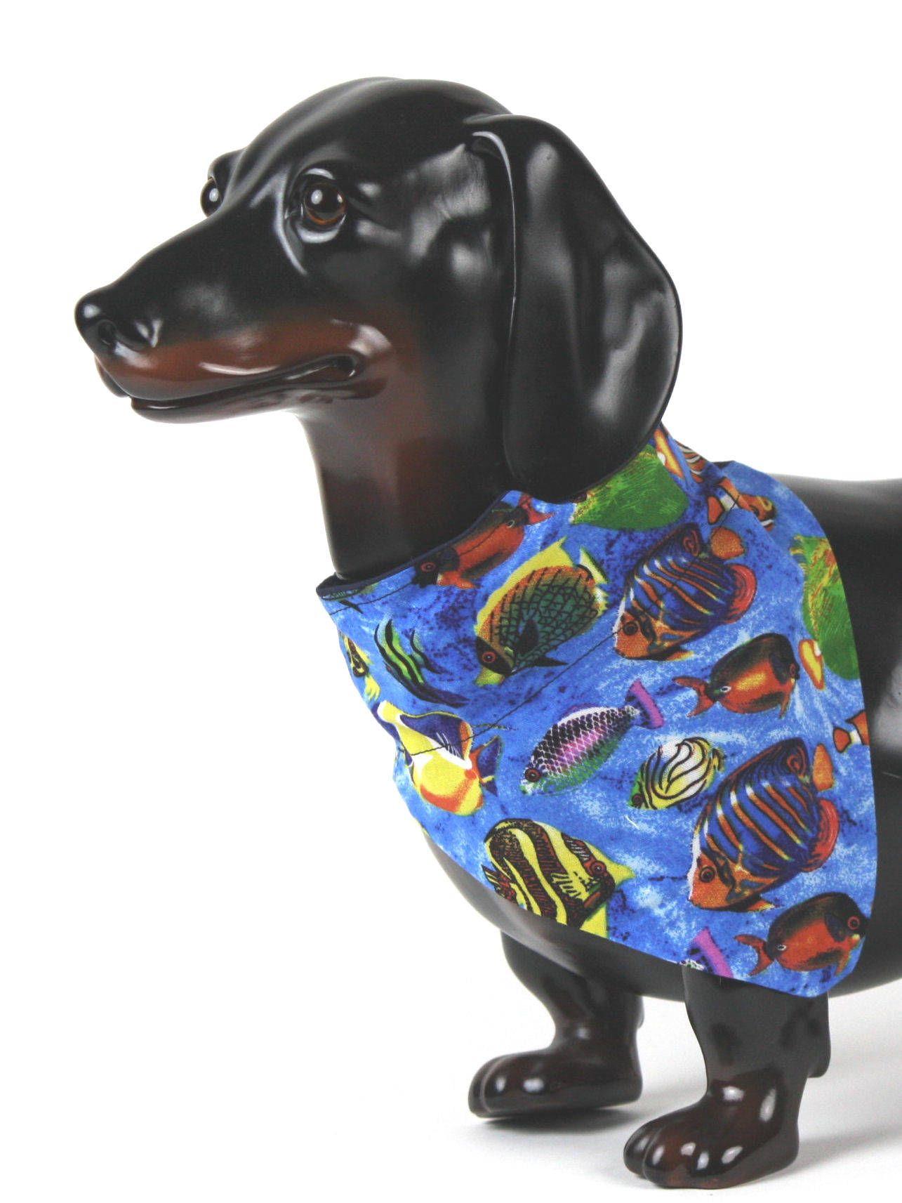 Tropical Dog Bandana Fish Dog Collar Bandana Luau Dog