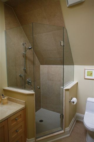 neo angle shower stalls with half walls - Google Search | Home ...