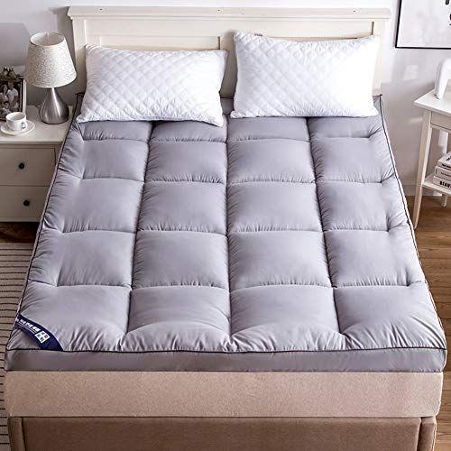 GDZFY Quilted Thicken Tatami mattress,Foldable Roll up Mattress Durable Soft Bed Tatami mat Single Double Student Dormitory Mattress-Light tan 180x200x8cm Futon Mattresses