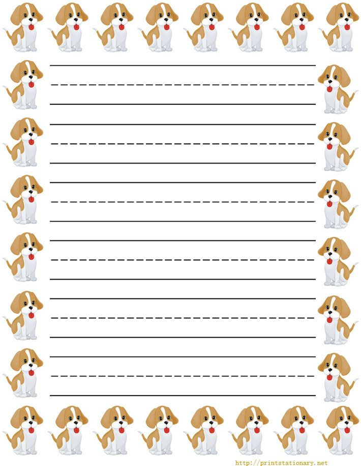 stars and moon Free printable kids stationery free primary lined – Print Lined Writing Paper
