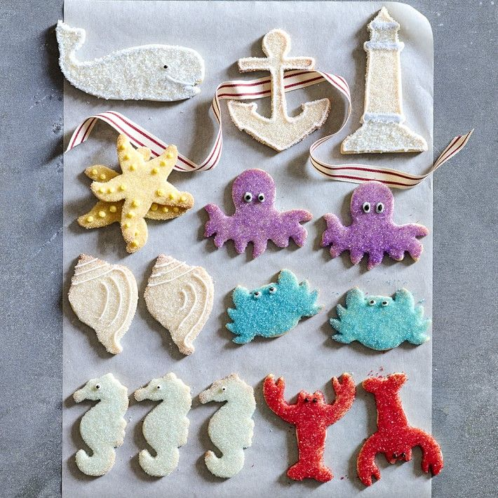 cookies made with williams sonoma nautical cookie cutter set