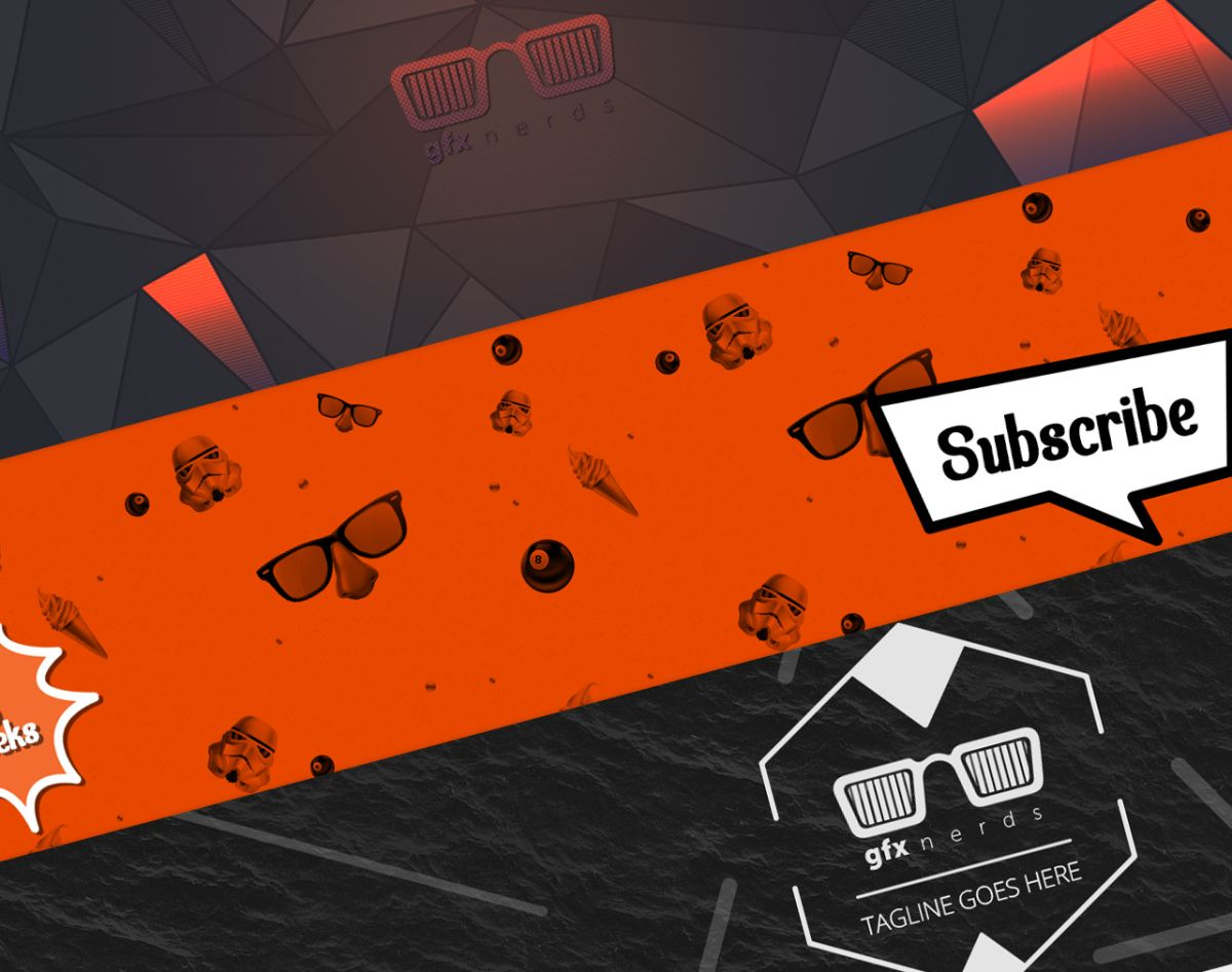 Youtube banner template psd Youtube banner template