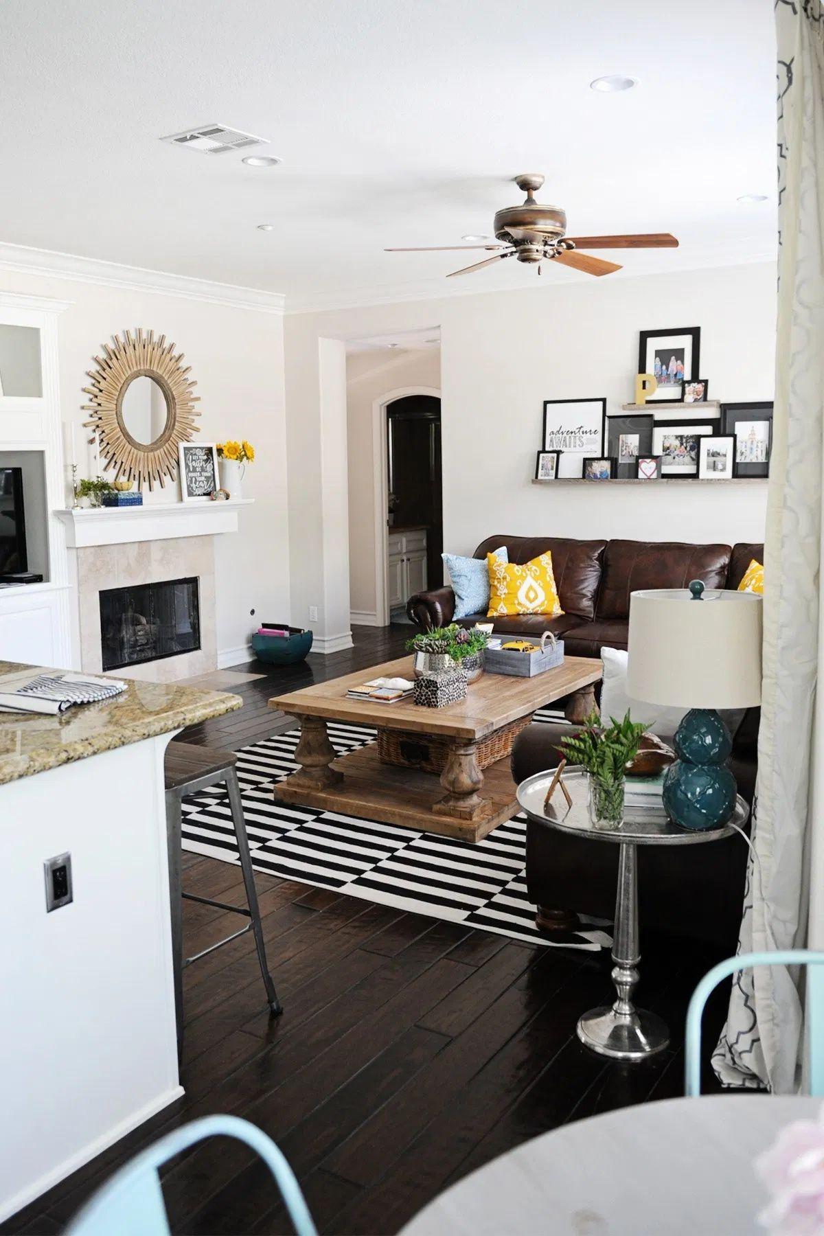 Light and bright family room makeover. #design #interiordesign #homedecor #remodel #renovation #PinkPeppermintDesign