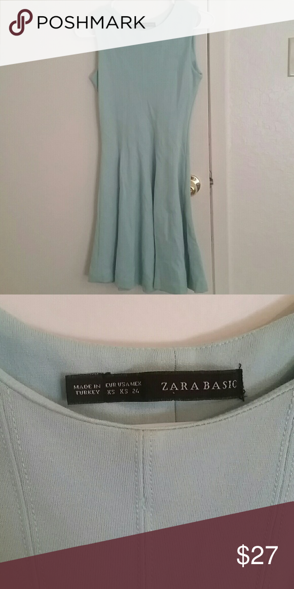 Zara Mint Dress Zara Basic Mint Dress size XS. Like New!! Zara Dresses Mini