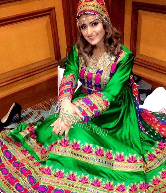 614c93fb340 afghan  style  dress  green  wedding