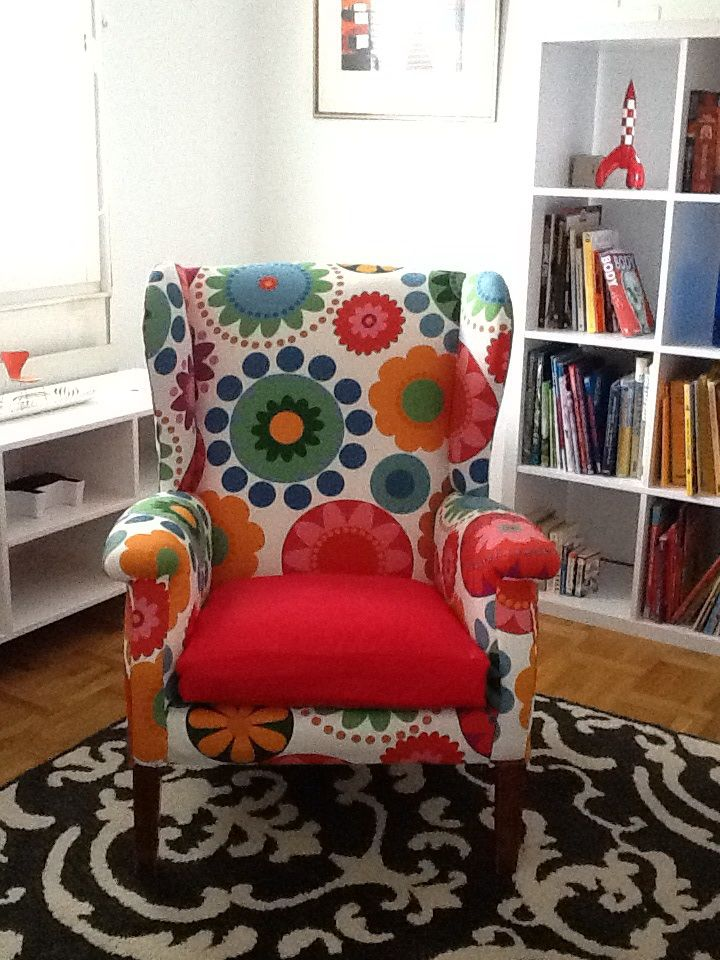 A Parker Knoll Chair Reupholstered In Ikea Floral