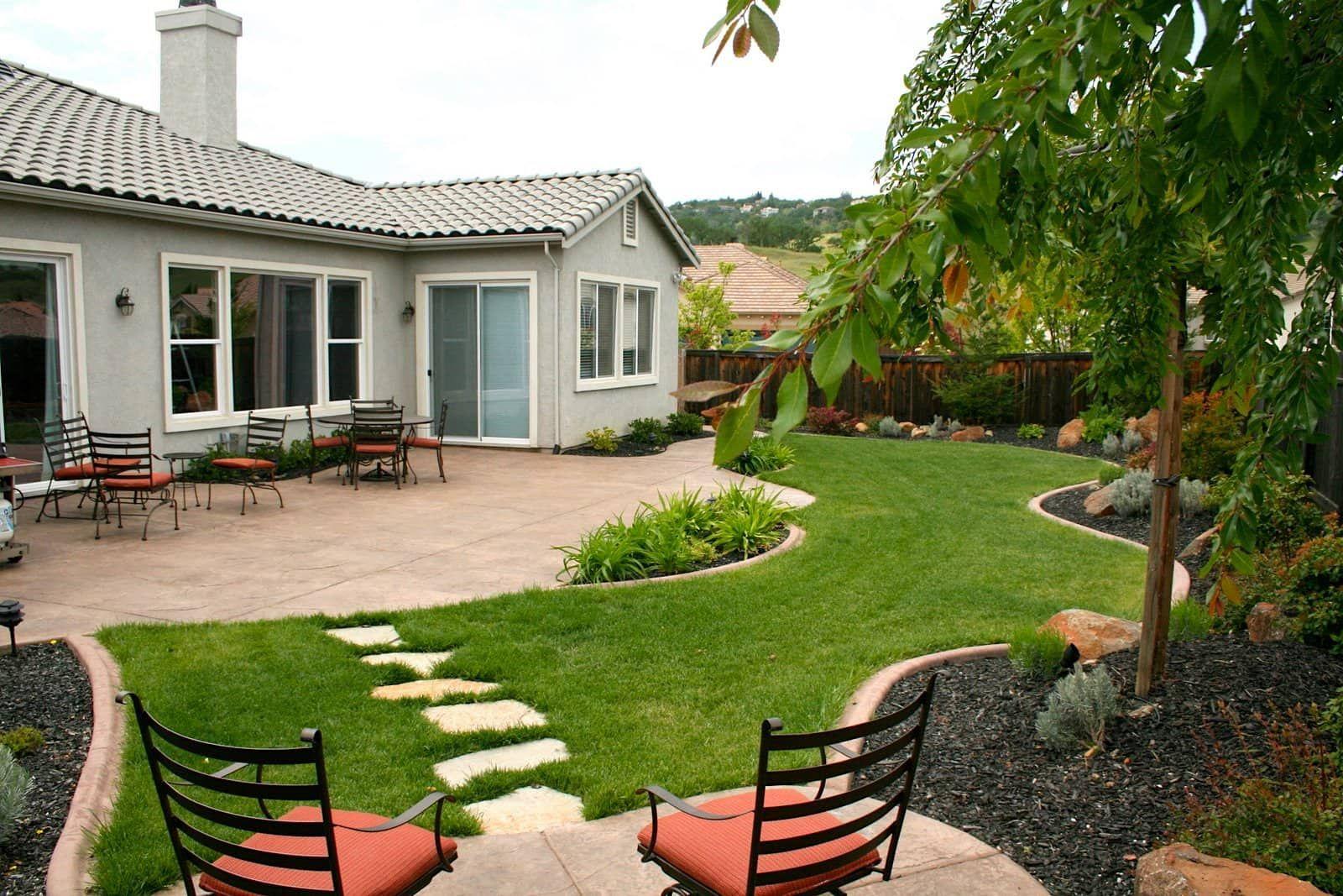 многих дизайн двора в частном доме фото раму заберёт