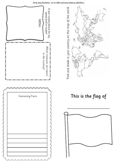 printable passport template for kids - passport printables geography general pinterest