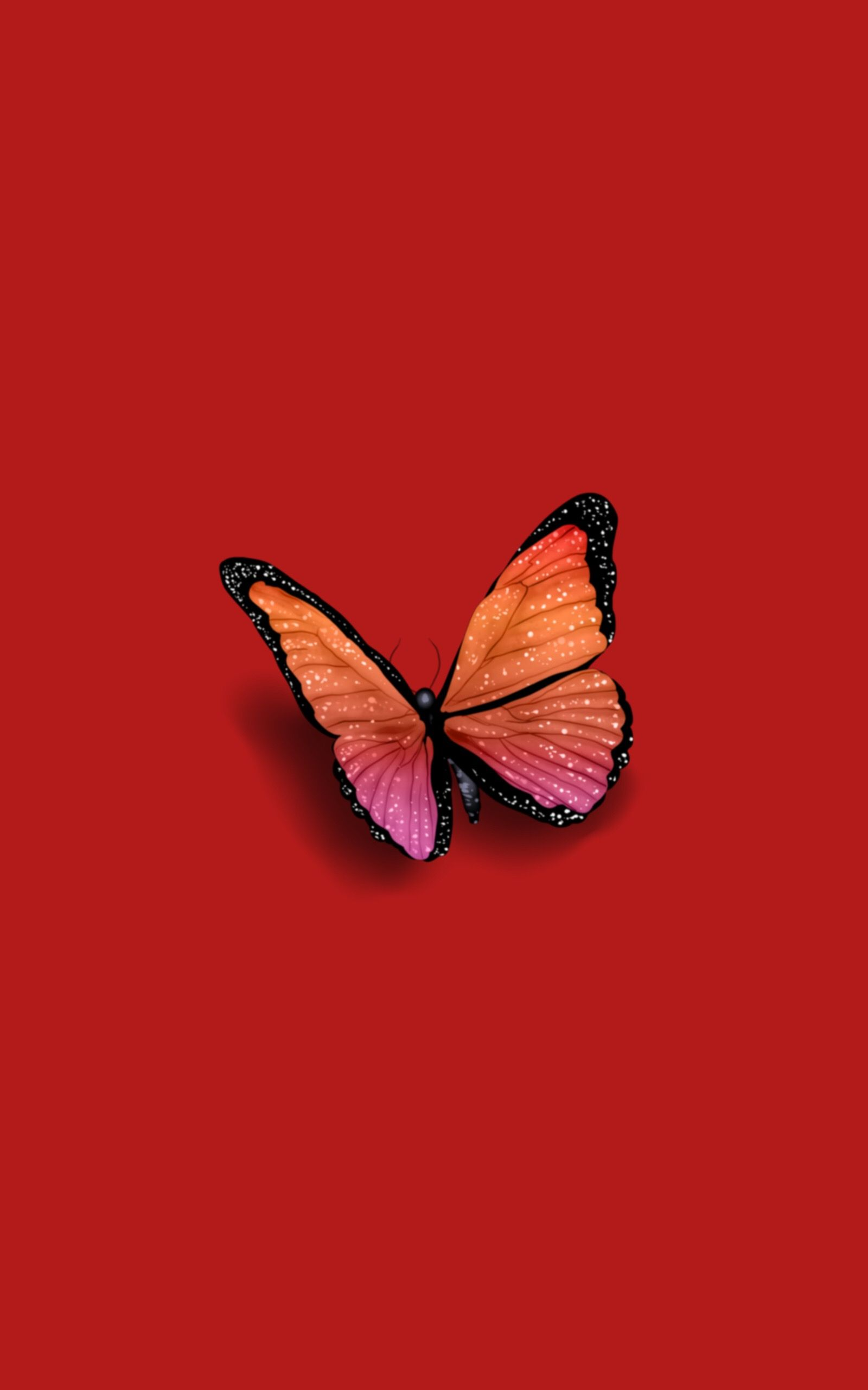Red Butterfly Aesthetic Iphone Wallpaper Iphone Background