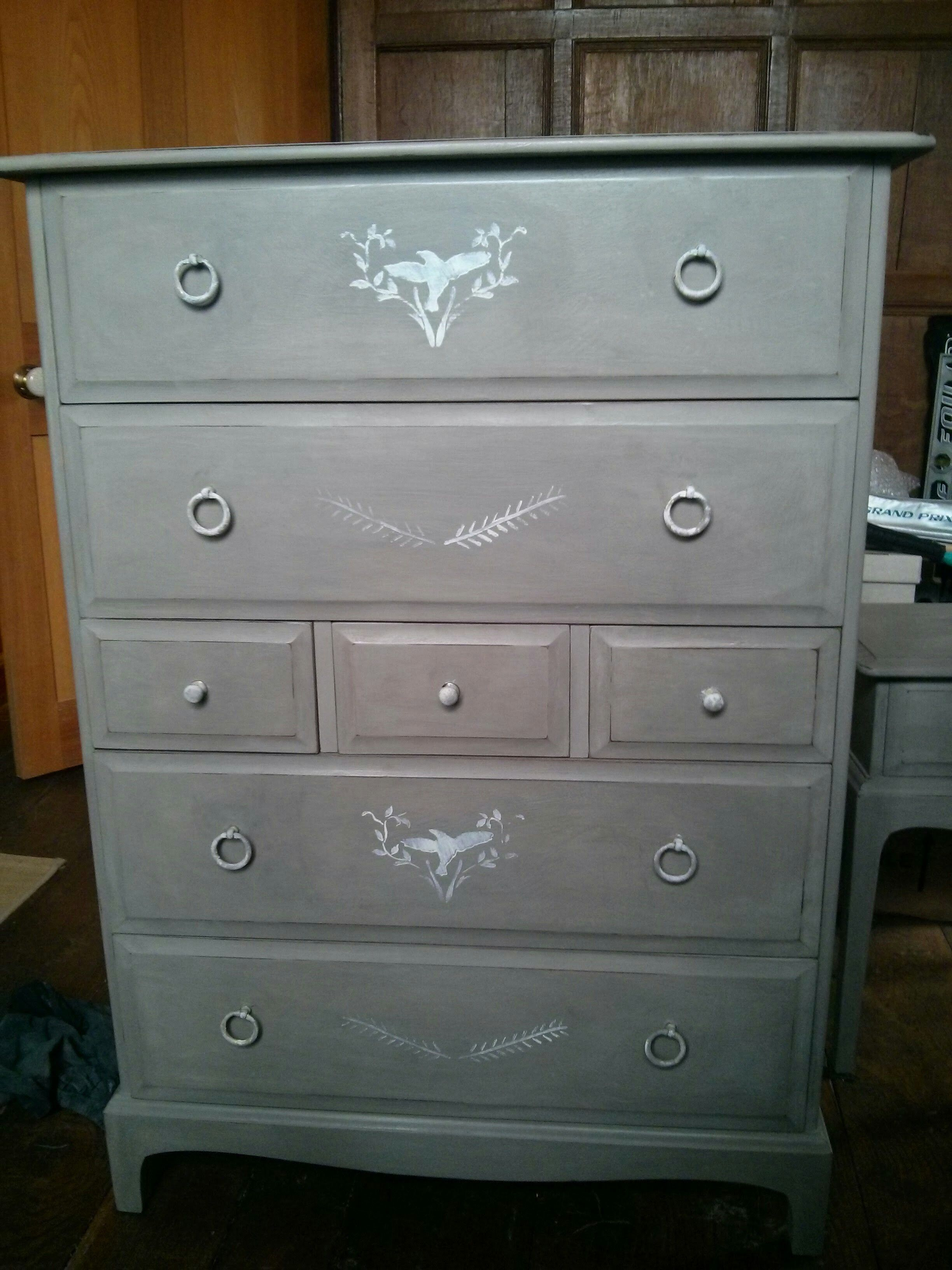 french distressed furniture. Stag Sold Wood Tall Boy Chest Of Drawers Hand Painted In Annie Sloan French Linen And Distressed Furniture