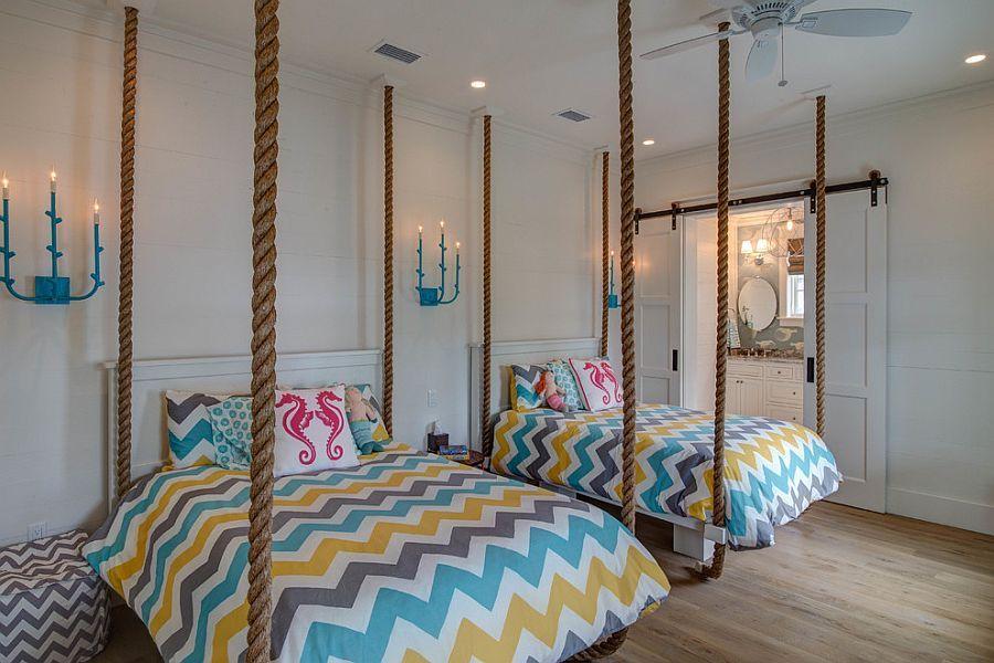 25 Kids Bedrooms Showcasing Stylish Chevron Pattern Coastal Interiors Modern Kids Bedroom Creative Kids Rooms