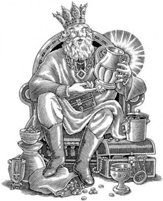 King Midas made a foolish wish that ultimately taught him gold - best of coloring pages of king midas