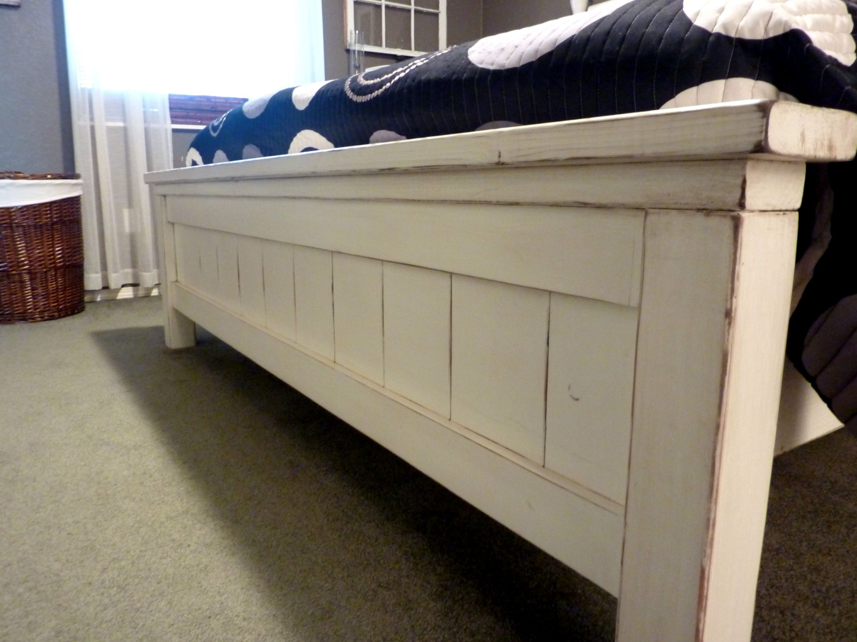 Ana White Farmhouse Bed King Diy Projects intended for