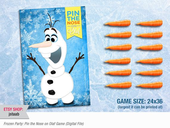 Frozen Party Game Pin The Nose on Olaf 24x36 Digital by jstaab, $18.00  @MacKenzie Pontius @Dionna Cameron  and @Olivia Madden   Lord help us all