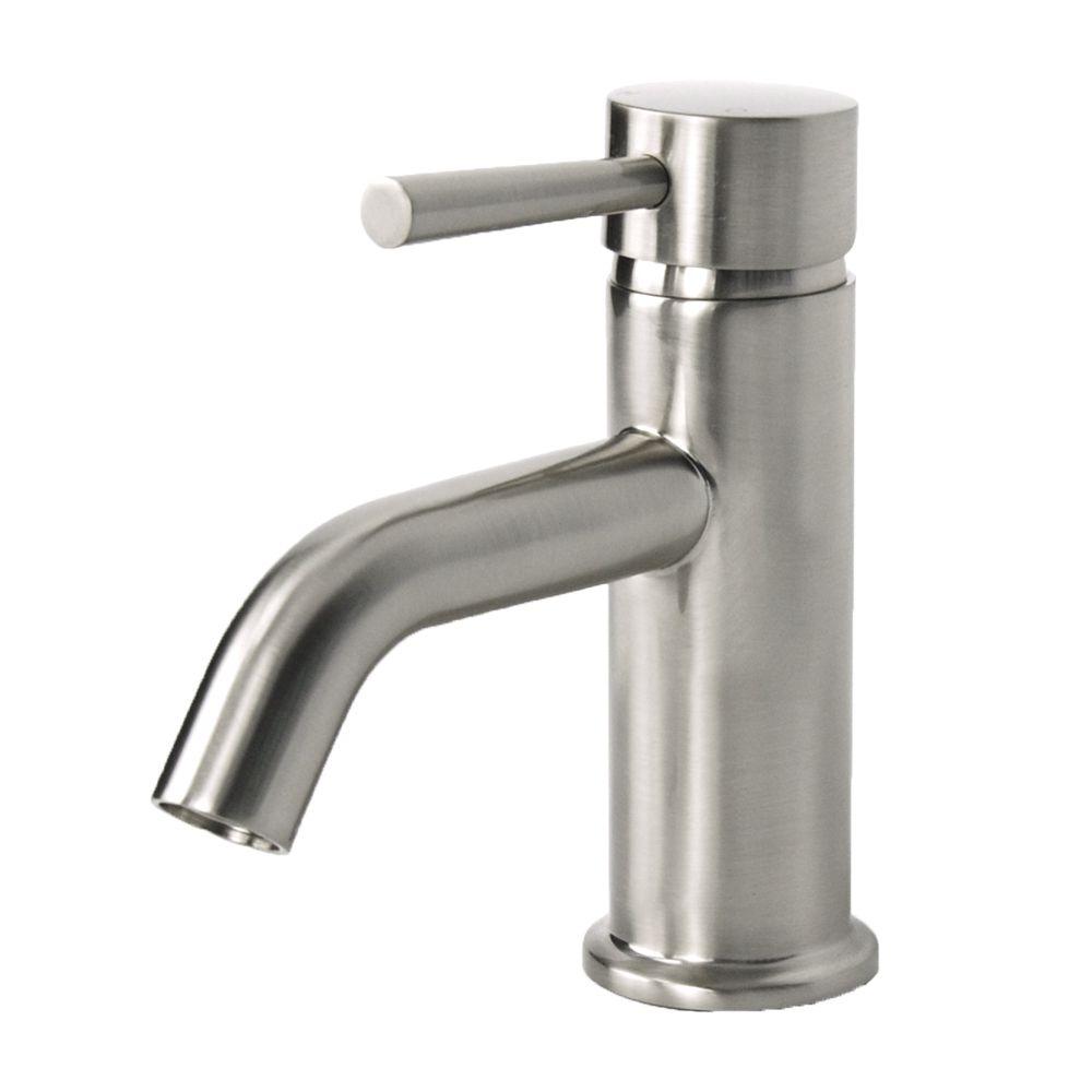 European Brushed Nickel Single Hole Bathroom Faucet (Brushed Nickel ...