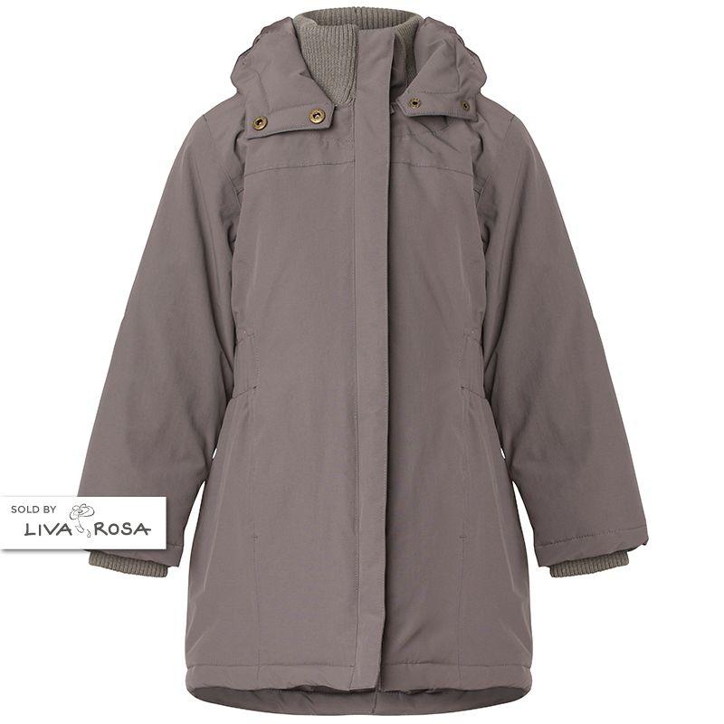 12e1db8ecde Beautiful and practical girl dark grey wintercoat from MarMar Copenhagen  for girls. Read more on
