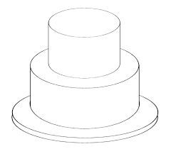Blank Cake Design Template 2 Tier Cake Templates Cake Sketch Tiered Cakes Birthday