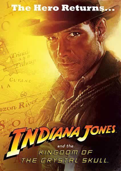 Poster De Indiana Jones Y El Reino De La Calavera De Cristal Carteles De Cine Dias De Cine Mejores Carteles De Peliculas