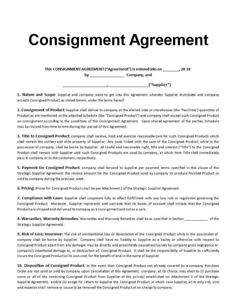 Consignment Agreement Template Are You Looking For A Professional Consignment Agreement Download Th Contract Template Invoice Template Word Invoice Template