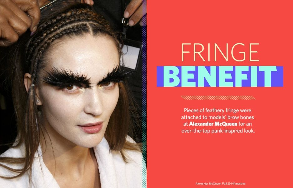 12 Most Outrageous Brow Trends Ever Pieces Of Feathery Fringe Were