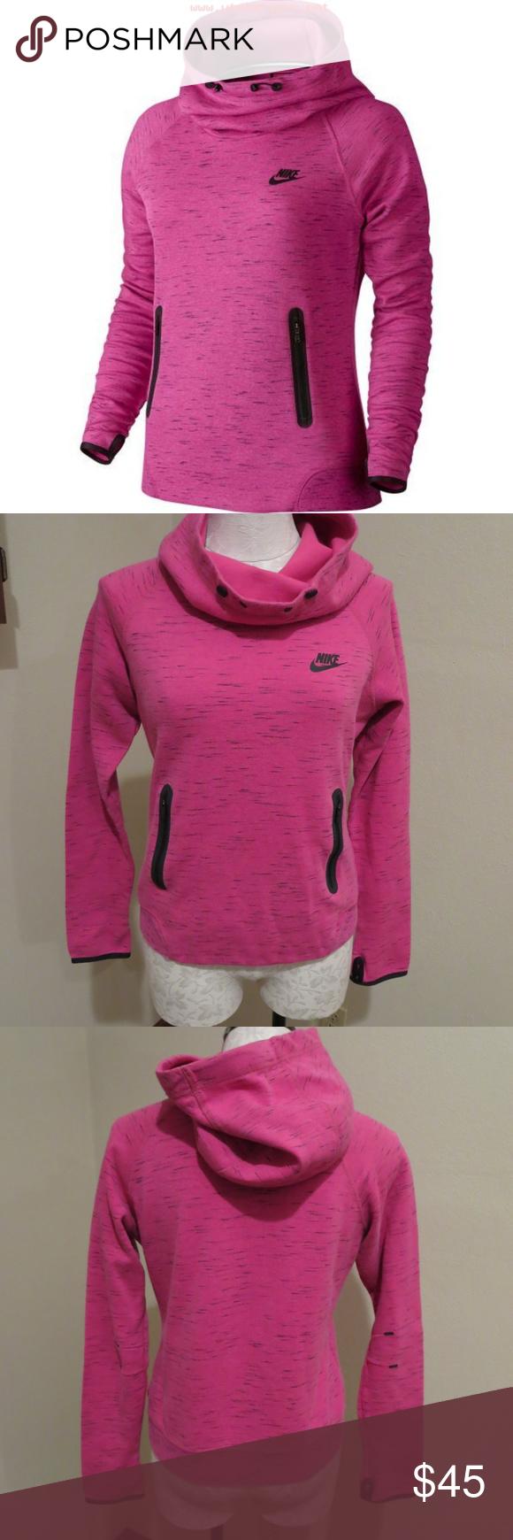 Nike Tech Fleece Hoodie pink heather sweatshirt Nike