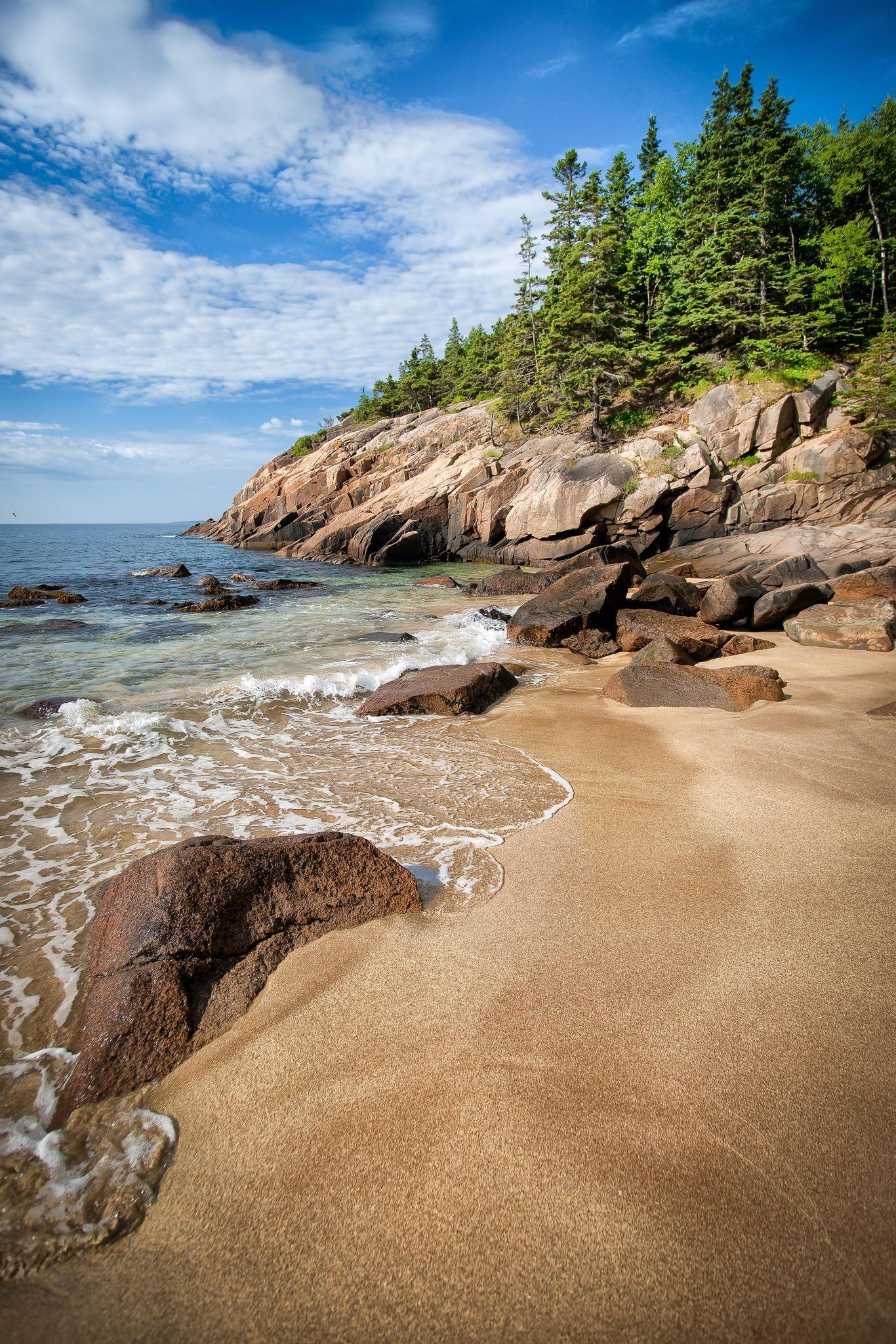 Sand Beach At Acadia National