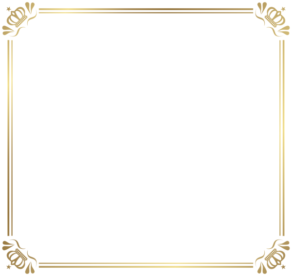 Frame Border With Crowns Png Image Bingkai Png Undangan Baby Shower