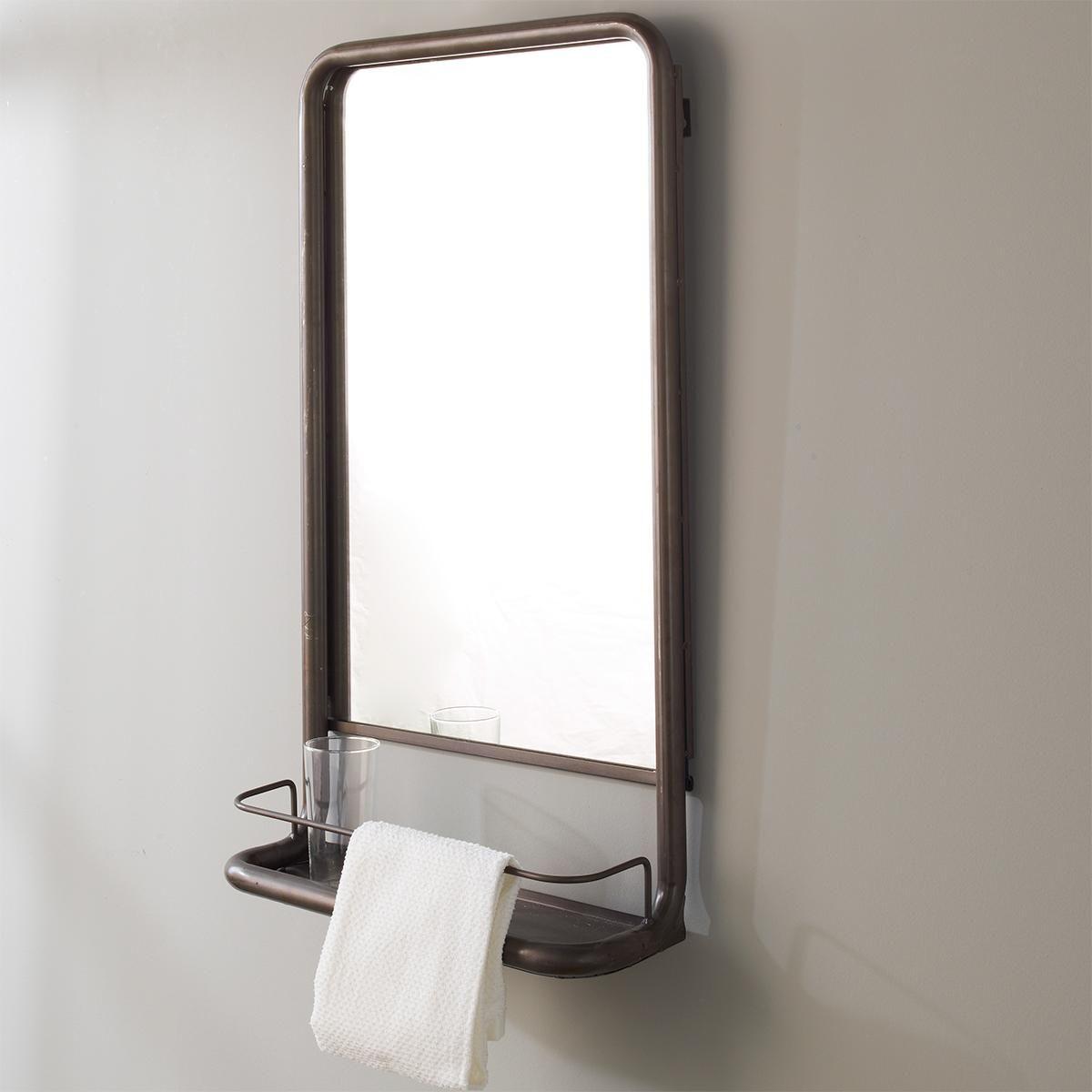 Metal Mirror With Shelf Small Bathroom Mirror With Shelf Industrial Style Bathroom Mirror With Shelf