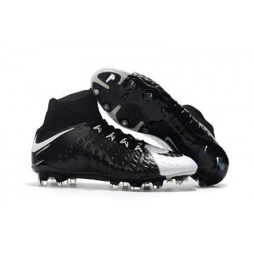 new style 52132 4f631 2017 Nike Hypervenom Phantom III DF FG Chaussures de football Blanc Noir  Top Soccer, Soccer