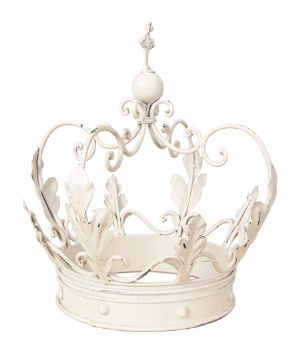 High Quality This Is A Decorative Hand Painted Antique White Crown Crafted From Metal It  Would Make A Perfect Table Decoration At A Wedding Or Anniversary