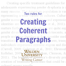 Two rules for creating cohesive paragraphs How to plan