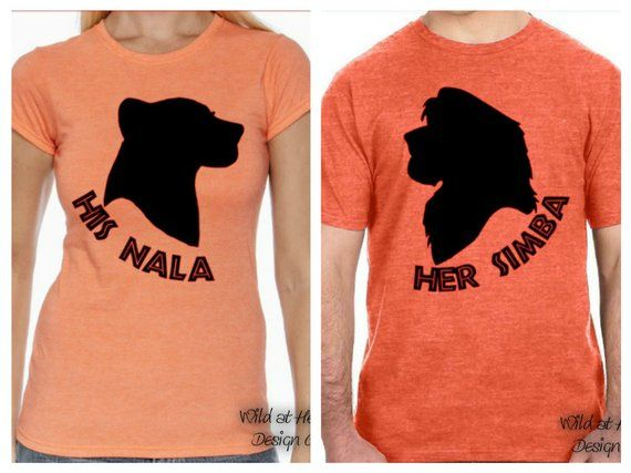 4803242a1cea Lion King Couples Shirts, Disney Couples Shirts, Simba, Nala, Lion King,  Pride Rock, Hakuna Matata,