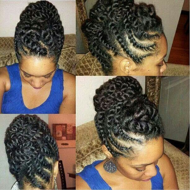 Two Strand Twist Updo Hairstyles Pinterest Updo Natural And