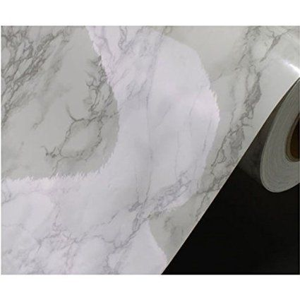 Amazon Com Grey Granite Look Marble Effect Contact Paper Film
