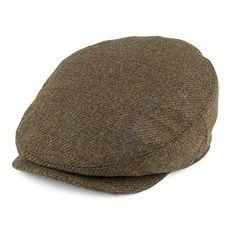 ccdfbb495e70f Barbour Hats Gamefair Waterproof Tweed Flat Cap - Dark Olive | men's ...