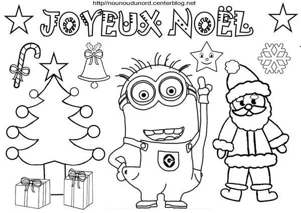 Coloriage Joyeux Noel Avec Les Heros Des Enfants B1 Pinterest