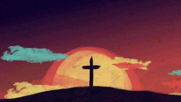 Painted Cross And Clouds Cross Paintings Worship Backgrounds Christian Background Images Christian spiritual moving wallpaper