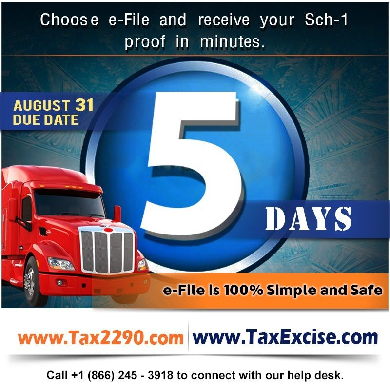 Final FiveDays to Efile your Heavy HighwayVehicle Use
