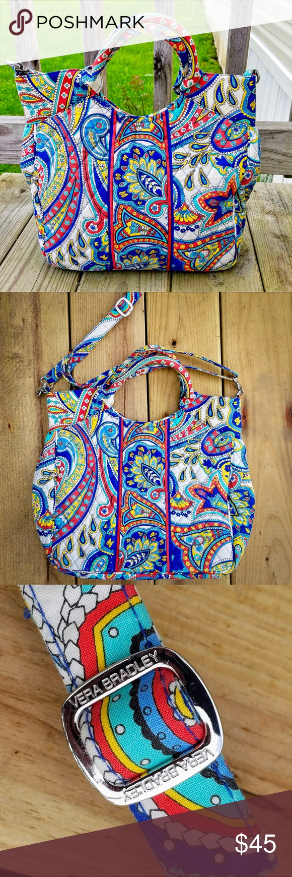 e6ad6517877 Vera Bradley Quilted Tote With Removable Strap Vera Bradley Quilted Tote  Purse With Removable Strap Very good gently used condition.