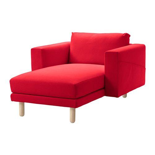 NORSBORG Szezlong brzoza Finnsta czerwony IKEA