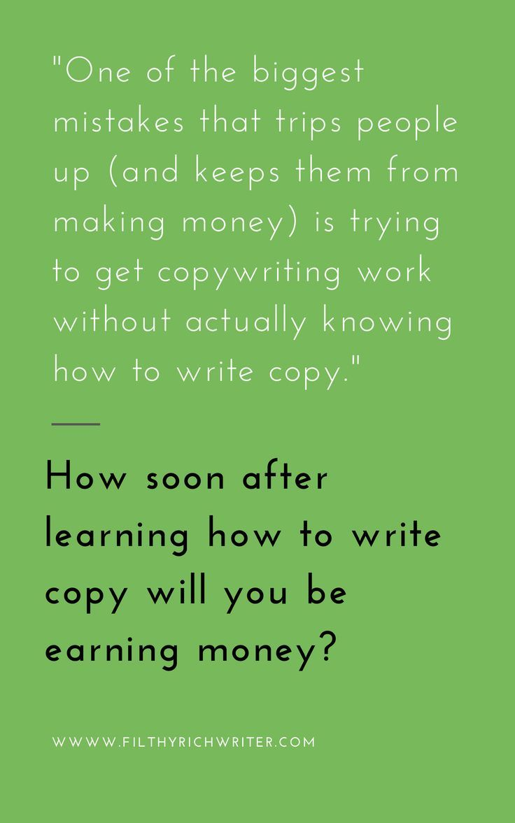 Copywriting Q&A How Soon Can You Make Money? Creative