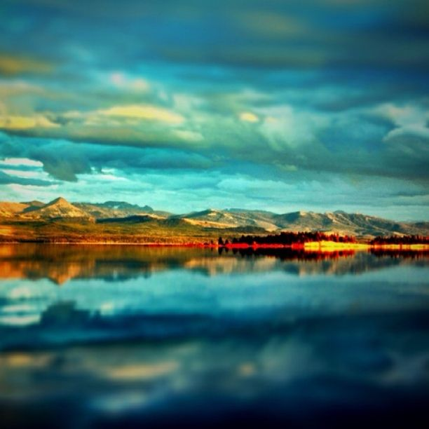 """Discovery by Brian Venghous: """"Evening view of Yellowstone lake."""""""