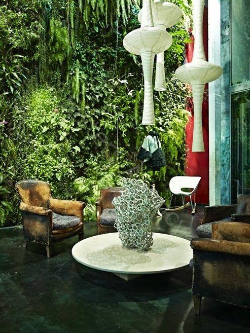 love this vertical garden idea, especially indoors when possible ...