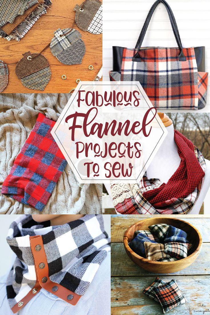 Fabulous Flannel Sewing Projects - Christmas diy sewing, Flannel scarf diy, Diy sewing gifts, Winter sewing projects, Diy sewing projects, Sewing projects - Looking for some Quick and Easy Flannel Sewing Projects  Top US sewing blog, Flamingo Toes, features their favorites  Click here now to see them all!!