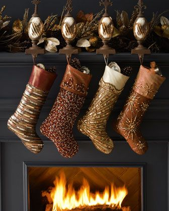 Christmas Stockings for the Whole Family | Gold christmas ...