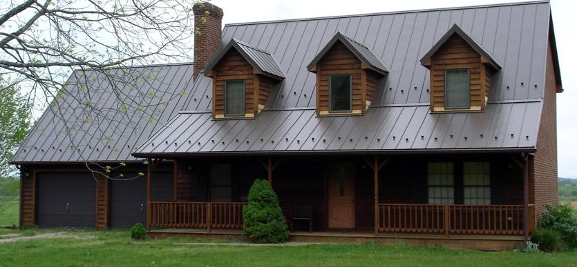 Standing Seam Metal Roof With Snow Guards Metal Roof Metal Roofing Materials Standing Seam Metal Roof